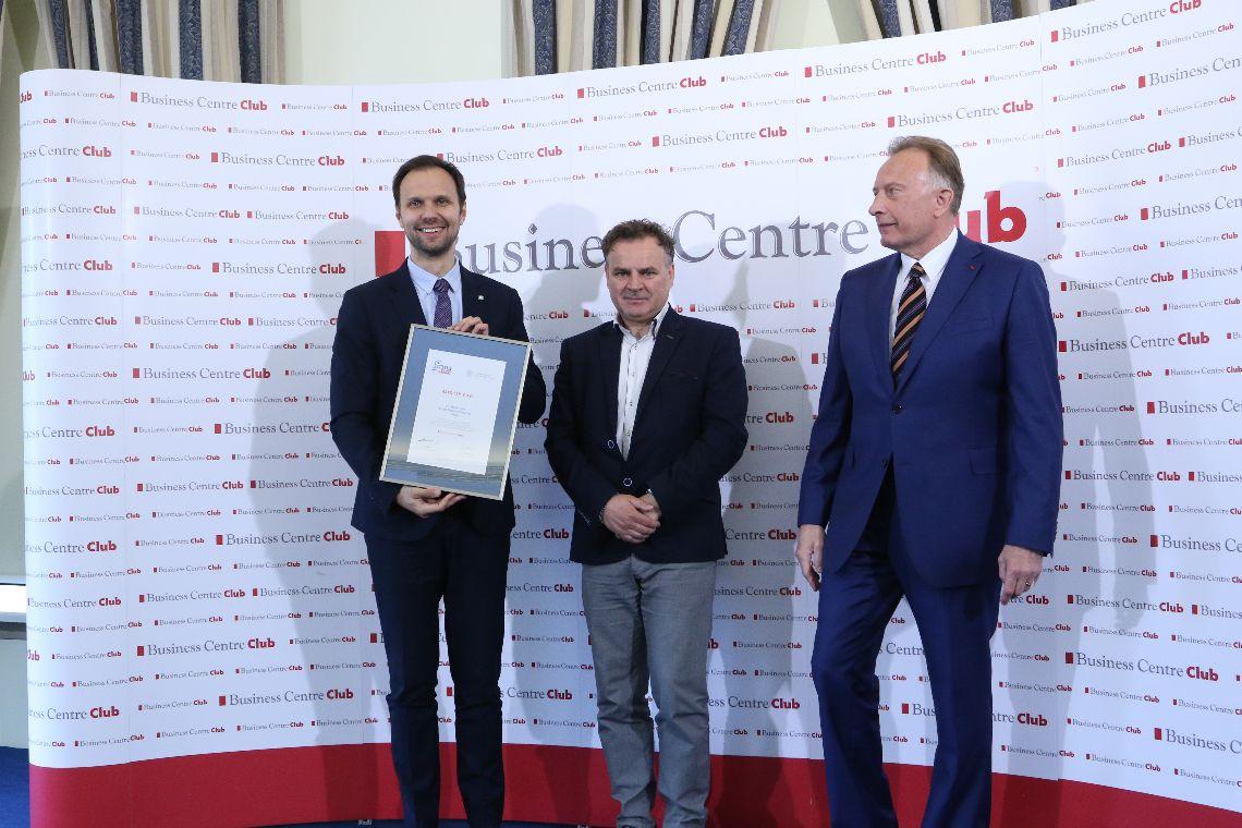 Laureaci konkursu Firma Dobrze Widziana z prezesem BCC Markiem Goliszewskim