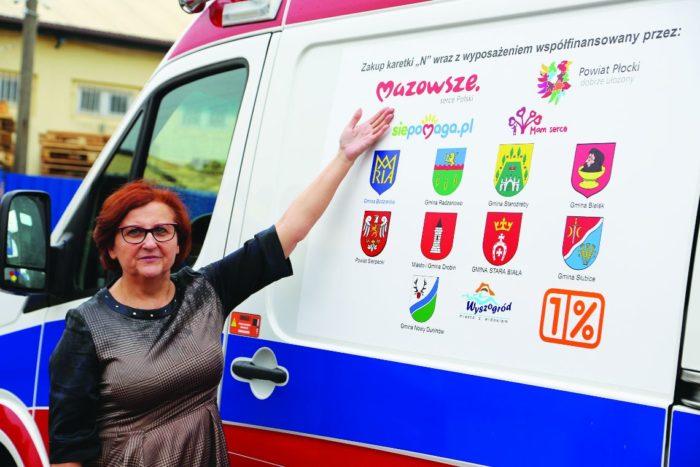 Lucyna Kęsicka, dyrektor SP ZOZ Wojewódzkiej Stacji Pogotowia Ratunkowego i Transportu Sanitarnego w Płocku