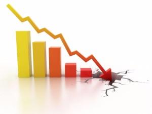 Business financial crisis concept 3d illustration