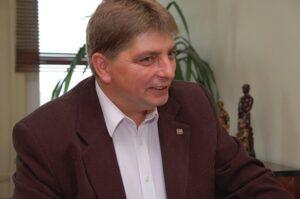Andrzej Chwiluk, przewodniczący Międzyzakładowego Związku Zawodowego Górników w Polsce KWK Makoszowy